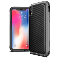 Чехол X-Doria Defense Lux для iPhone XR Чёрный карбон